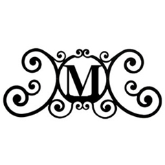 Wrought Iron House Plaque Let M