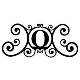 Wrought Iron House Plaque Let O