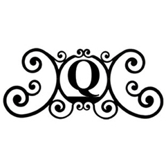 Wrought Iron House Plaque Let Q
