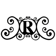 Wrought Iron House Plaque Let R