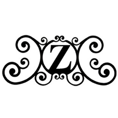 Wrought Iron House Plaque Let Z