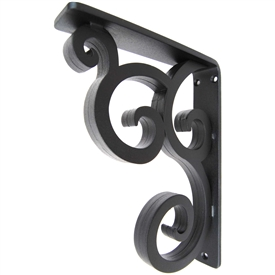 "Isabelle Wrought Iron Corbel | 1.5"" Wide"