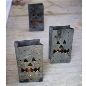 Pictured here is the Tin Jack-O-Lanterns at Timeless Wrought Iron.