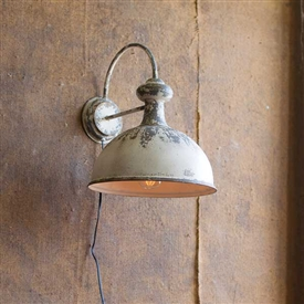 Pictured here is the Antique Wall Sconce Lamp at Timeless Wrought Iron.