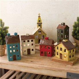 Pictured here is our Ceramic Village sold in a set of 6