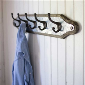 Pictured here is an Industrial Cast Iron 5 Hook Coat Rack at Timeless Wrought Iron.