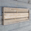 Pictured here is the Wooden Wall Calendar at Timeless Wrought iron