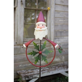 Pictured here is our Painted Santa Garden Stake