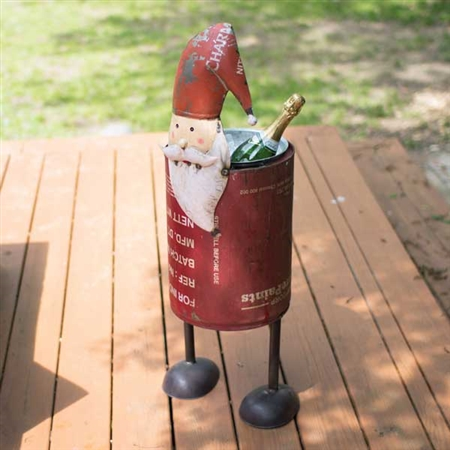 Pictured here is our Recycled Iron Santa Cooler at Timeless Wrought Iron