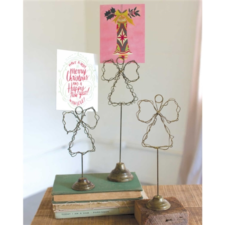 Pictured here is our Angel Card Holder sold as a set of 3