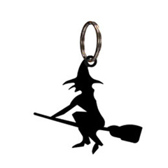 Wrought Iron Witch Key Chain