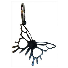 Wrought Iron Butterfly Key Chain