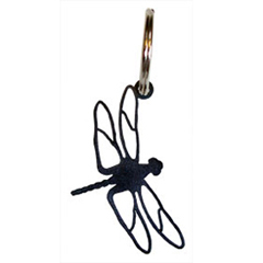 Wrought Iron Dragonfly Key Chain