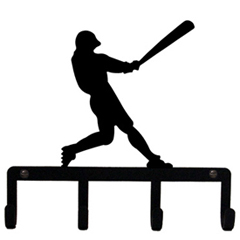 Wrought Iron Baseball Player Key Holder
