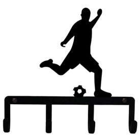 Wrought Iron Soccer Player Key Holder