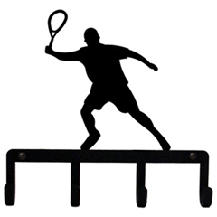 Wrought Iron Tennis Player Key Holder