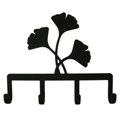 Wrought Iron Ginko Leaf Key Holder