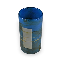Pictured here is the Mid-Night Blue Glassware Cylinder from Couleur