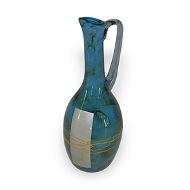 Pictured here is the Mid-Night Blue Tall  Glass Pitcher from Couleur