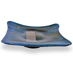 Pictured here is the Mid-Night Blue Square Glass Bowl from Couleur