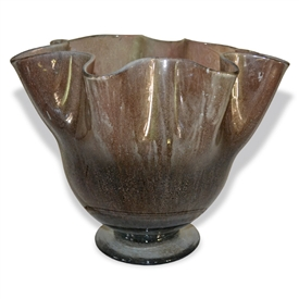 Pictured here is the Brown Sugar Ruffle Glass Vase from Couleur