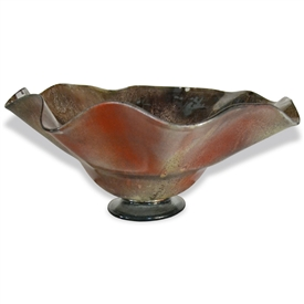 Pictured here is the Brown Sugar Ruffle Glass Bowl from Couleur