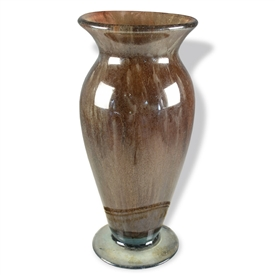Pictured here is the Brown Sugar Round Glass Vase from Couleur