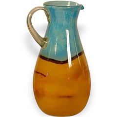Pictured here is the Tropical  Glass Pitcher from Couleur