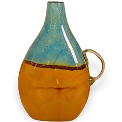 Pictured here is the Tropical Flat  Glass Pitcher from Couleur