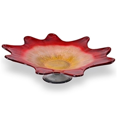 Pictured here is the Rise and Shine 9 Point Flat Glass Bowl from Couleur