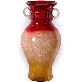 Pictured here is the Rise and Shine Glass Urn with Handles from Couleur
