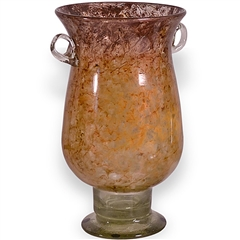 Pictured here is the Gold Dust Glass Urn with Handles from Couleur