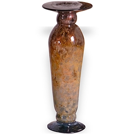 Pictured here is the Small Gold Dust Glass Candle Holder from Couleur