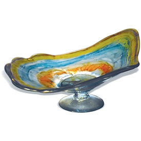 Pictured here is the Wild Flower Square Glass Bowl from Mathews and Company