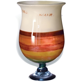 Pictured here is the Mango Tango Chalice Glass Vase from Mathews and Company
