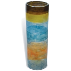 Pictured here is the Wild Flower Small Glassware Cylinder from Mathews and Company