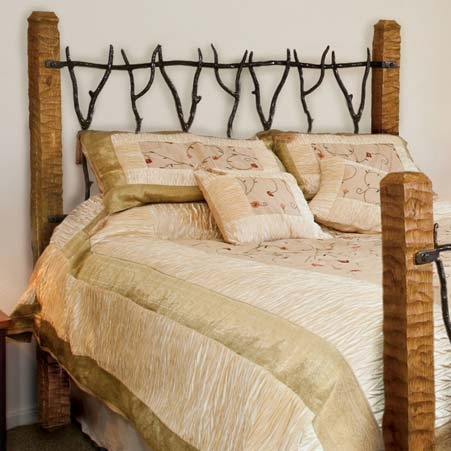 rustic south fork wrought iron headboard  queen or king, Headboard designs