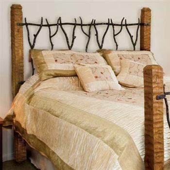 Pictured here is the South Fork Wrought Iron Headboard hand forged by artisan blacksmiths.