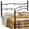 Pictured here is the Woodland Wrought Iron Headboard hand forged by artisan blacksmiths.