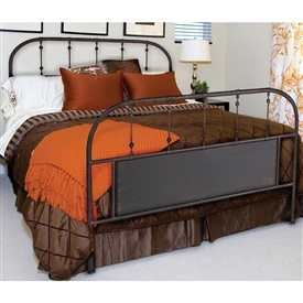 Pictured here is the Burlington Wrought Iron Bed hand forged by artisan blacksmiths.