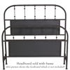 Pictured here is the Farmhouse Panel Wrought Iron Headboard hand forged by artisan blacksmiths.