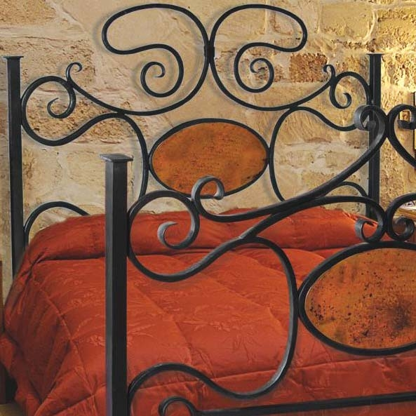 wrought iron headboard king  show home design, Headboard designs