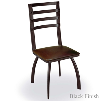 Pictured is our Chanal Dining Side Chair, hand-forged by artisan blacksmiths.