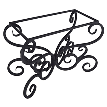 Pictured here is the Alexander Dining Table Base Only hand crafted by skilled artisan blacksmiths from Mathews and company.