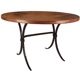 Pictured here is the Salisbury Dining Table Base Only hand crafted by skilled artisan blacksmiths from Mathews and company.