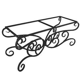 Pictured here is the Alexander Rectangle Dining Table Base Only hand crafted by skilled artisan blacksmiths.