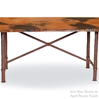 Pictured here is the Burlington Dining Table Base Only hand crafted by skilled artisan blacksmiths from Mathews and company.