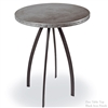 "Pictured here is the Chanal 40"" tall Bar Table with 30inch diameter top crafted by skilled artisan blacksmiths."