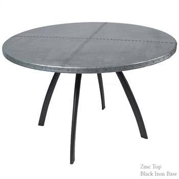 Pictured here is the Chanal Dining Table Base Only hand crafted by skilled artisan blacksmiths.