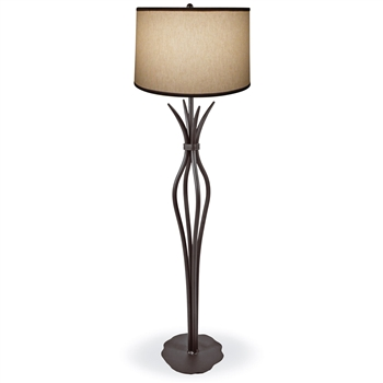 Pictured is our Traditional/Contemporary style wrought iron Milan Floor Lamp hand-made by Mathews & Co.